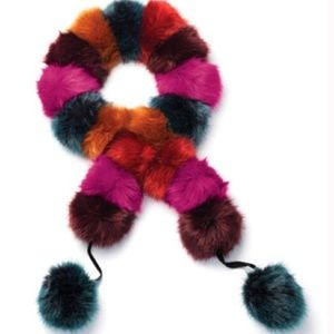 MARK Avon Pom Pom scarf have a ball accessory nwt